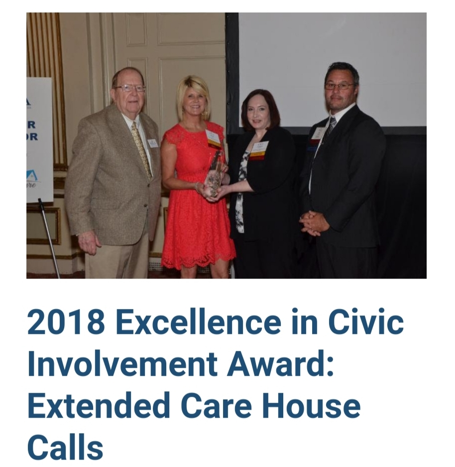 2018 Excellence in Civic Involvement Award: Extended Care House Calls